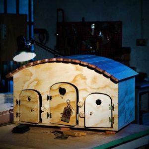 Motel - Casa in legno per 2/3 Gatti o Piccoli Animali - Blitzen