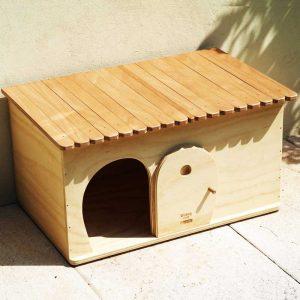SEMPLICITY - Niche en Bois pour chats et petits animaux - Blitzen