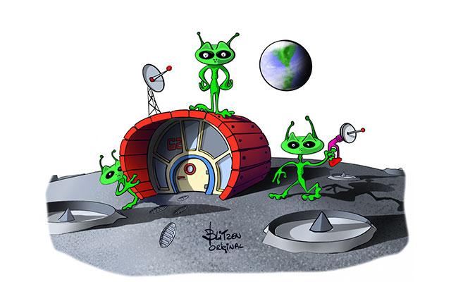 Disegno di una Casetta Aliena per Tartarughe di Terra - Blitzen