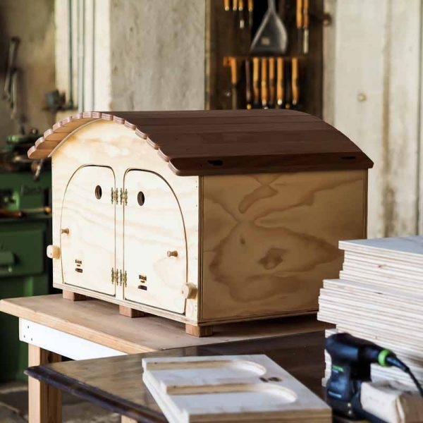 HOTEL - Casa in legno per 2/3 Gatti o Piccoli Animali - Blitzen