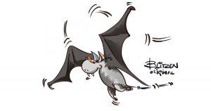 Disegno di un Pipistrello che vola