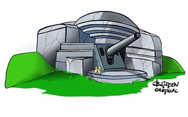 Disegno Blitzen di un Bunker a protezione delle uova di Tartaruga