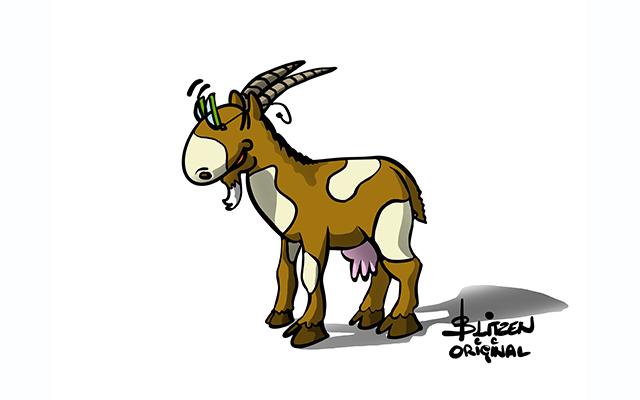 Illustrazione raffigurante una capra - Blitzen