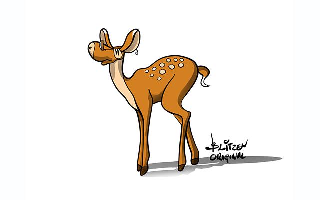 Illustrazione raffigurante un daino - Blitzen
