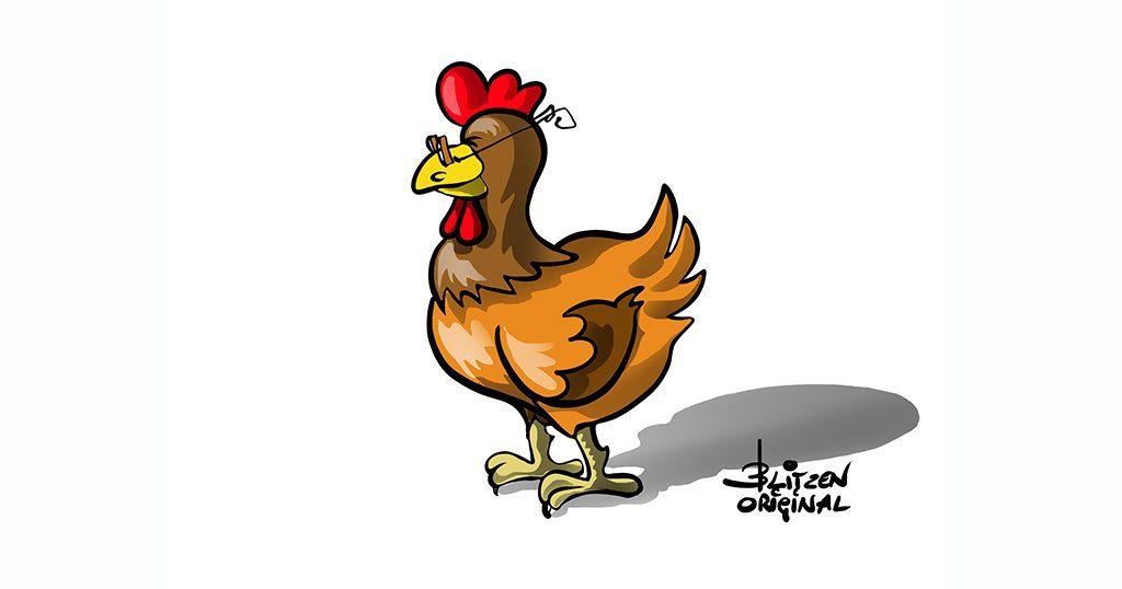 Illustrazione raffigurante una gallina - Blitzen